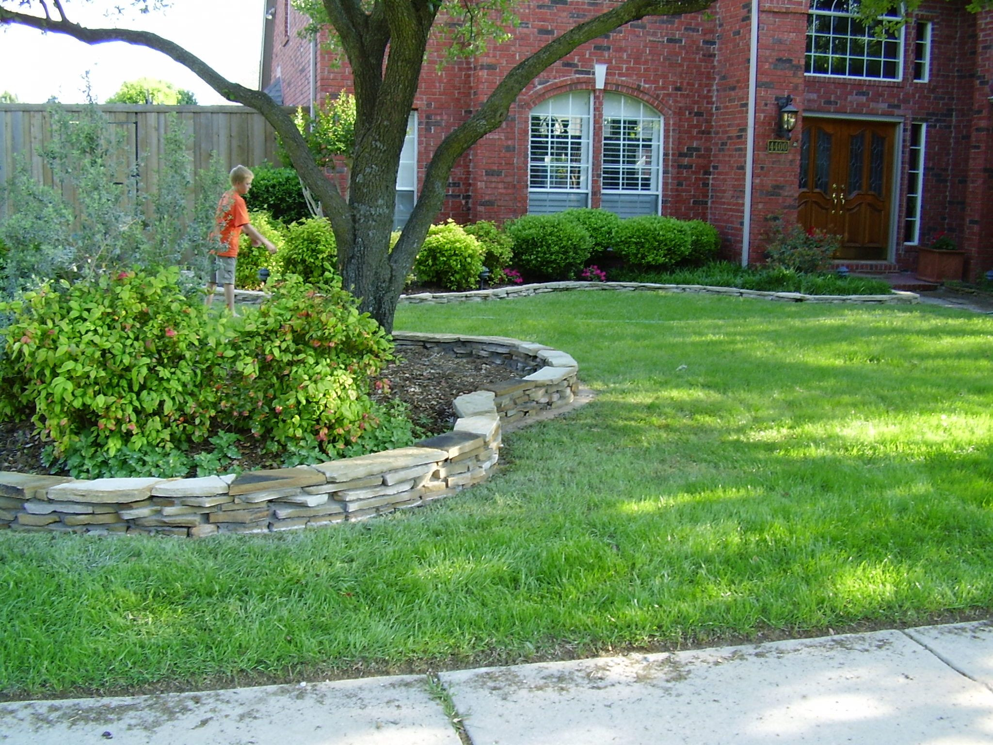Best ideas about Landscape Edging Stones . Save or Pin Flagstone Border Now.