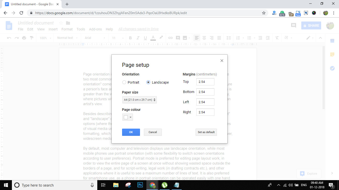 Best ideas about Landscape In Google Docs . Save or Pin How to Create Google Docs Landscape Orientation Page Guide Now.