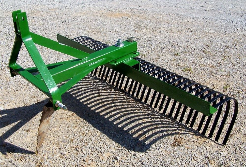 """Best ideas about Landscape Rake Tractor Supply . Save or Pin New 60"""" TRI Landscape Rake Rock Rake CAN SHIP CHEAP Now."""