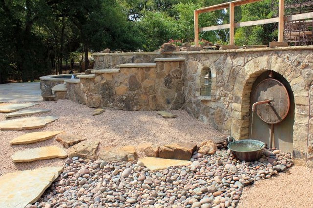 Best ideas about Landscape Supply Waco . Save or Pin Waco TX Wood Wheel Landscape Eclectic Landscape Now.