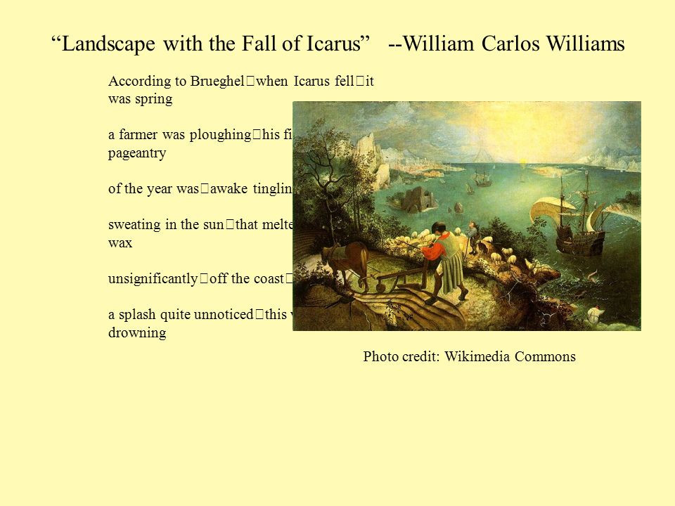 Best ideas about Landscape With The Fall Of Icarus Poem . Save or Pin Ovid and Later Poets Exploring the plex psychology of Now.