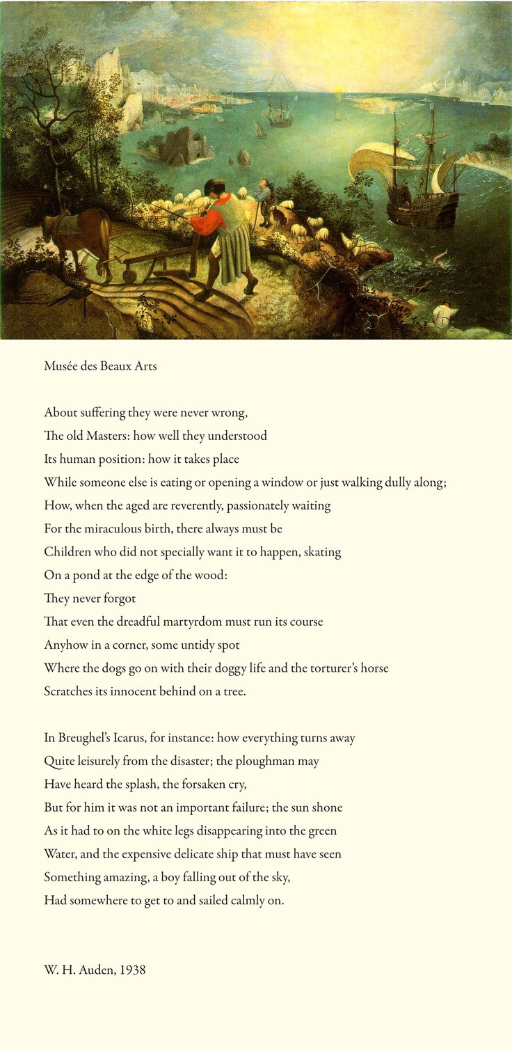 Best ideas about Landscape With The Fall Of Icarus Poem . Save or Pin Pin by Margaret Miller on Icarus Now.