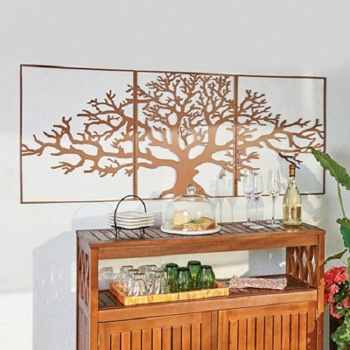 Best ideas about Large Metal Wall Art . Save or Pin Metal Wall Art Framed 3 Pc Set Picture Outdoor Now.