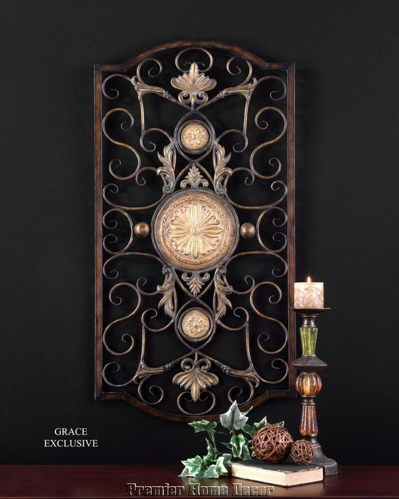 Best ideas about Large Metal Wall Art . Save or Pin LARGE TUSCAN DECOR SCROLL WROUGHT IRON METAL WALL GRILLE Now.