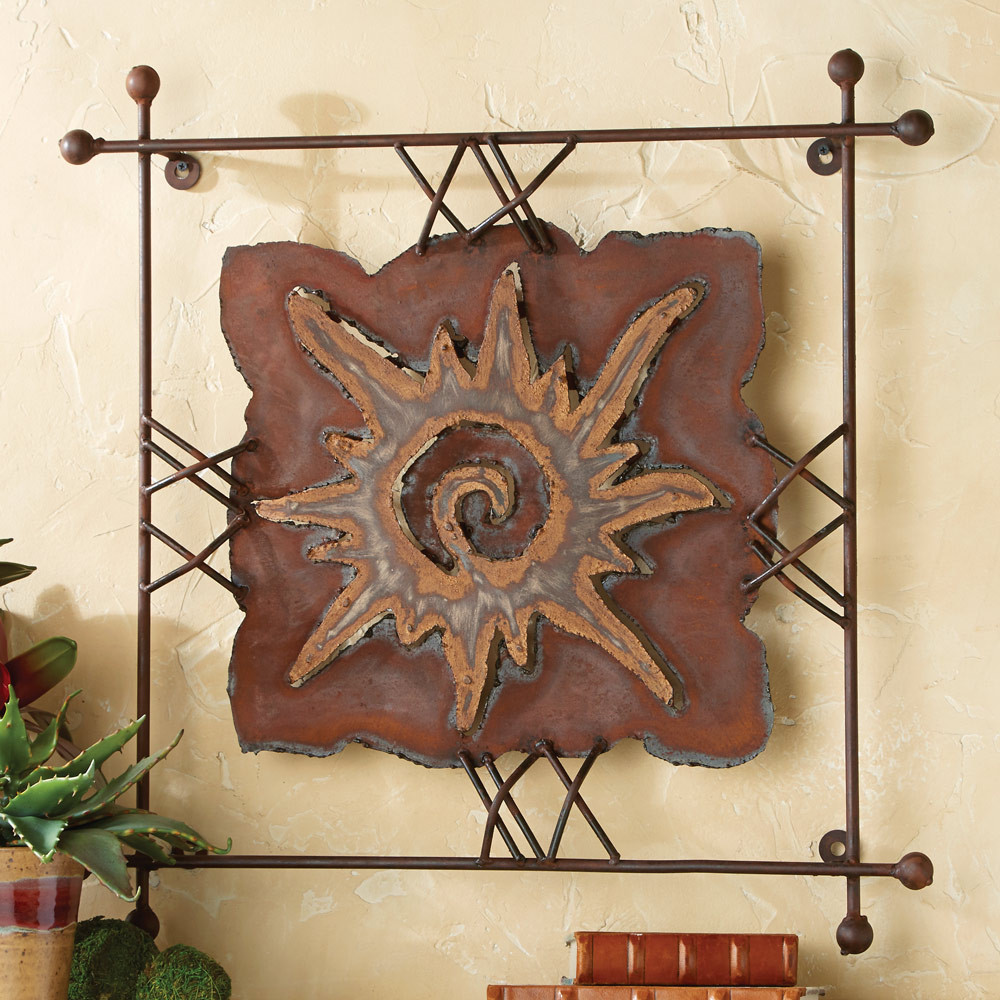 """Best ideas about Large Metal Wall Art . Save or Pin Sun """"Rawhide"""" Metal Wall Art Now."""