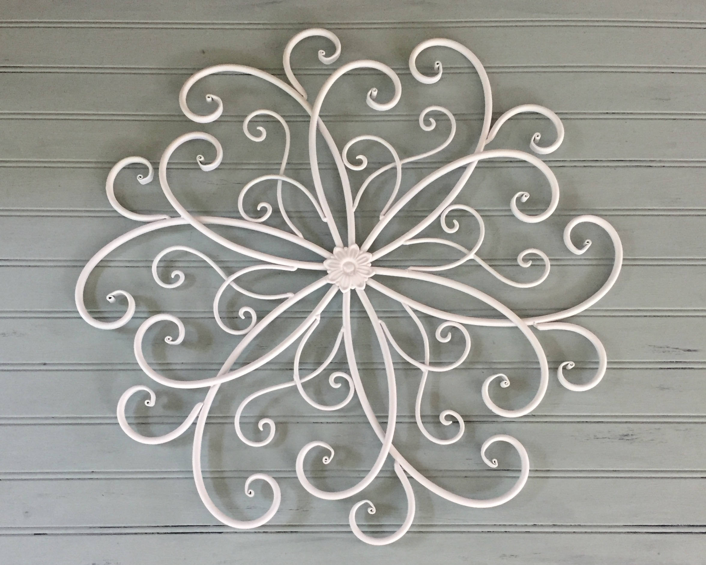 Best ideas about Large Metal Wall Art . Save or Pin White Metal Wall Hanging Metal Wall Decor Decorative Now.