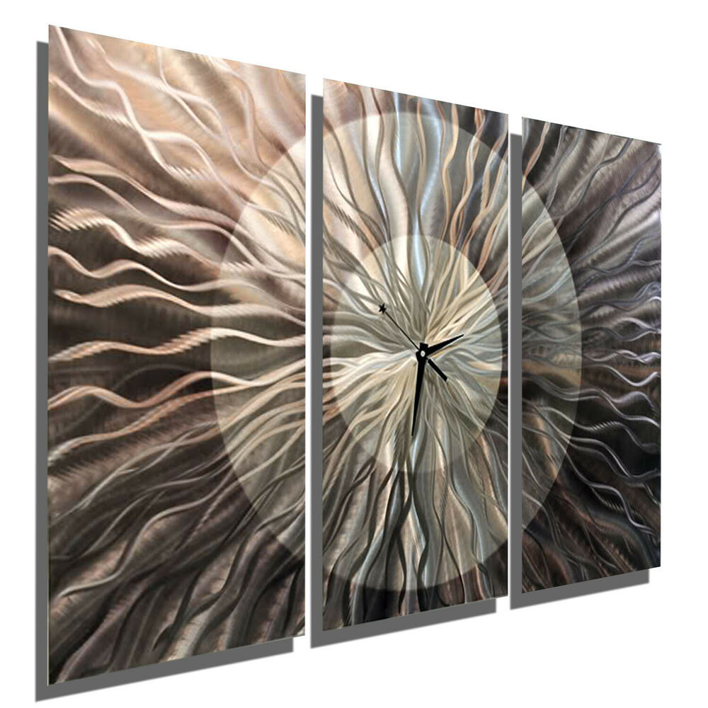 Best ideas about Large Metal Wall Art . Save or Pin Metal Wall Clock Contemporary Wall Art Sculpture Now.