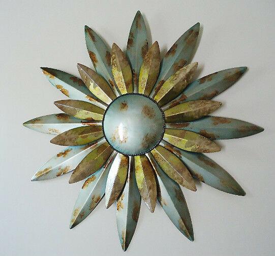 Best ideas about Large Outdoor Metal Wall Art . Save or Pin Aqua Sunburst Sun Metal Wall Art Decor Celestial Indoor Now.