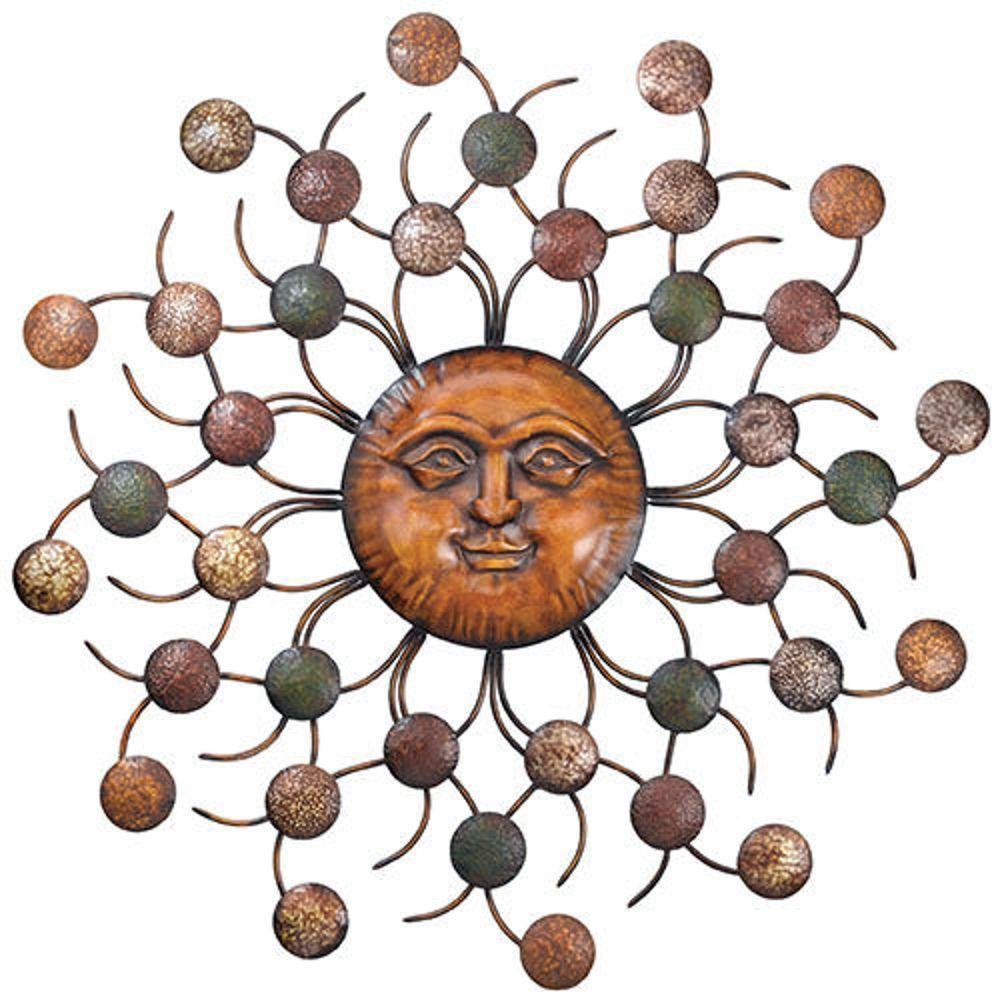 Best ideas about Large Outdoor Metal Wall Art . Save or Pin Sun Face Circles Wall Art Sculpture Metal Sunburst Now.