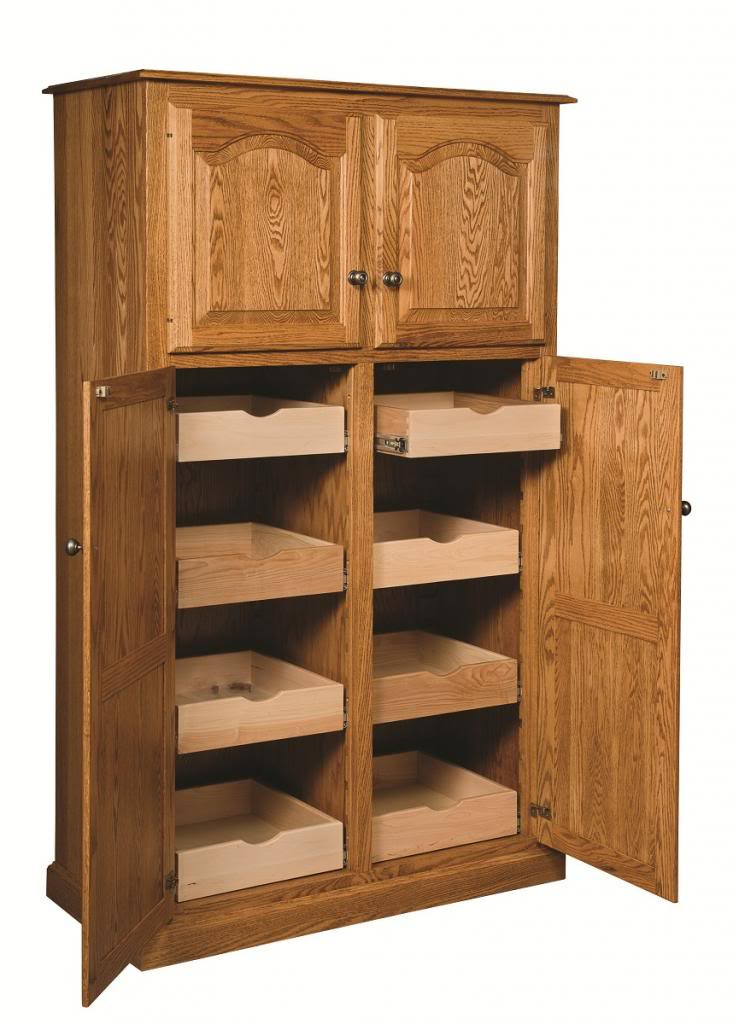 Best ideas about Large Pantry Cabinet . Save or Pin Amish Country Traditional Kitchen Pantry Storage Cupboard Now.