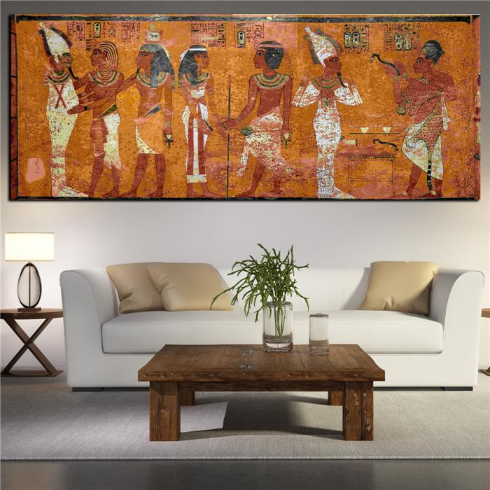 Best ideas about Large Wall Art For Living Room . Save or Pin Egyptian Decor Canvas Painting Oil Painting Wall Now.