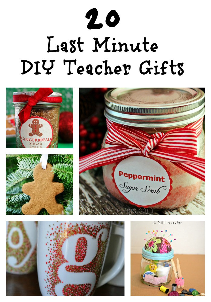 Best ideas about Last Minute DIY Christmas Gifts . Save or Pin 20 Last Minute DIY Teacher Gifts diy ts Trippin Now.