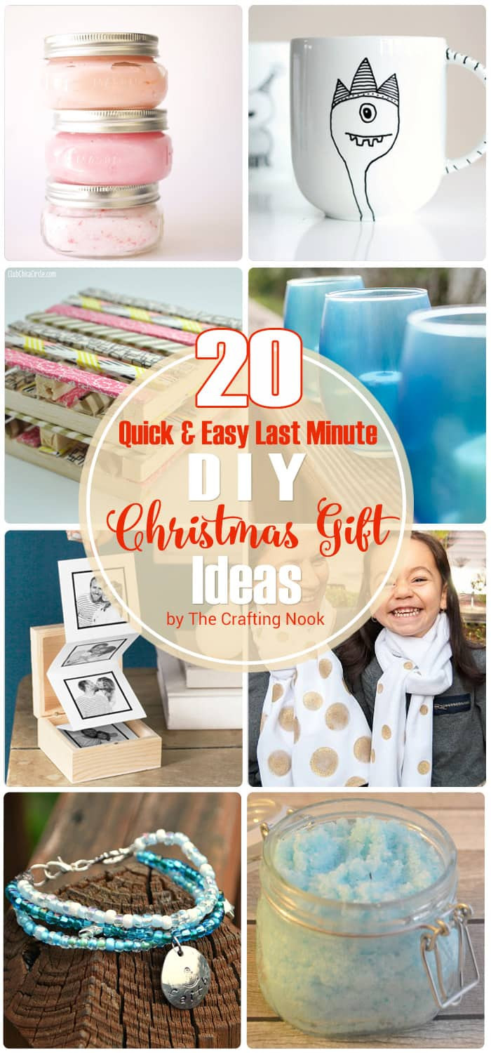 Best ideas about Last Minute DIY Christmas Gifts . Save or Pin 20 Quick & Easy Last Minute DIY Christmas Gifts Now.