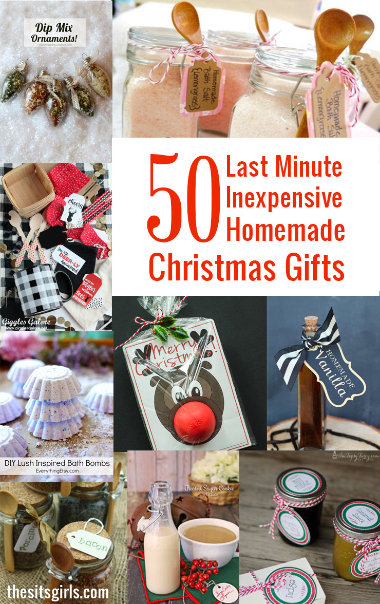 Best ideas about Last Minute DIY Christmas Gifts . Save or Pin 50 Last Minute Inexpensive Homemade Christmas Gifts Now.
