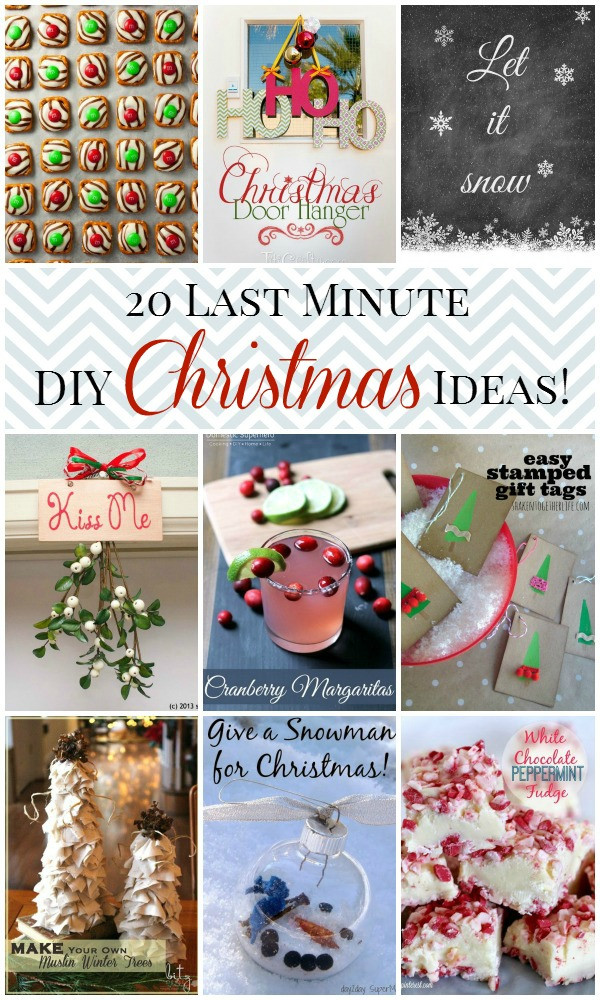 Best ideas about Last Minute DIY Christmas Gifts . Save or Pin 20 Last Minute Christmas Ideas Now.