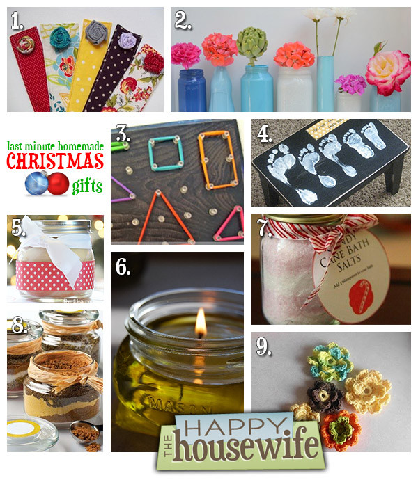 Best ideas about Last Minute DIY Christmas Gifts . Save or Pin Last Minute Homemade Christmas Gifts The Happy Housewife Now.