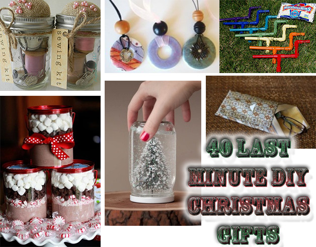 Best ideas about Last Minute DIY Christmas Gifts . Save or Pin 40 Last Minute DIY Christmas Gifts Now.
