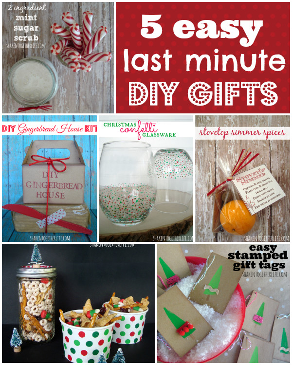 Best ideas about Last Minute DIY Christmas Gifts . Save or Pin 5 Easy Last Minute Gifts to DIY Now.