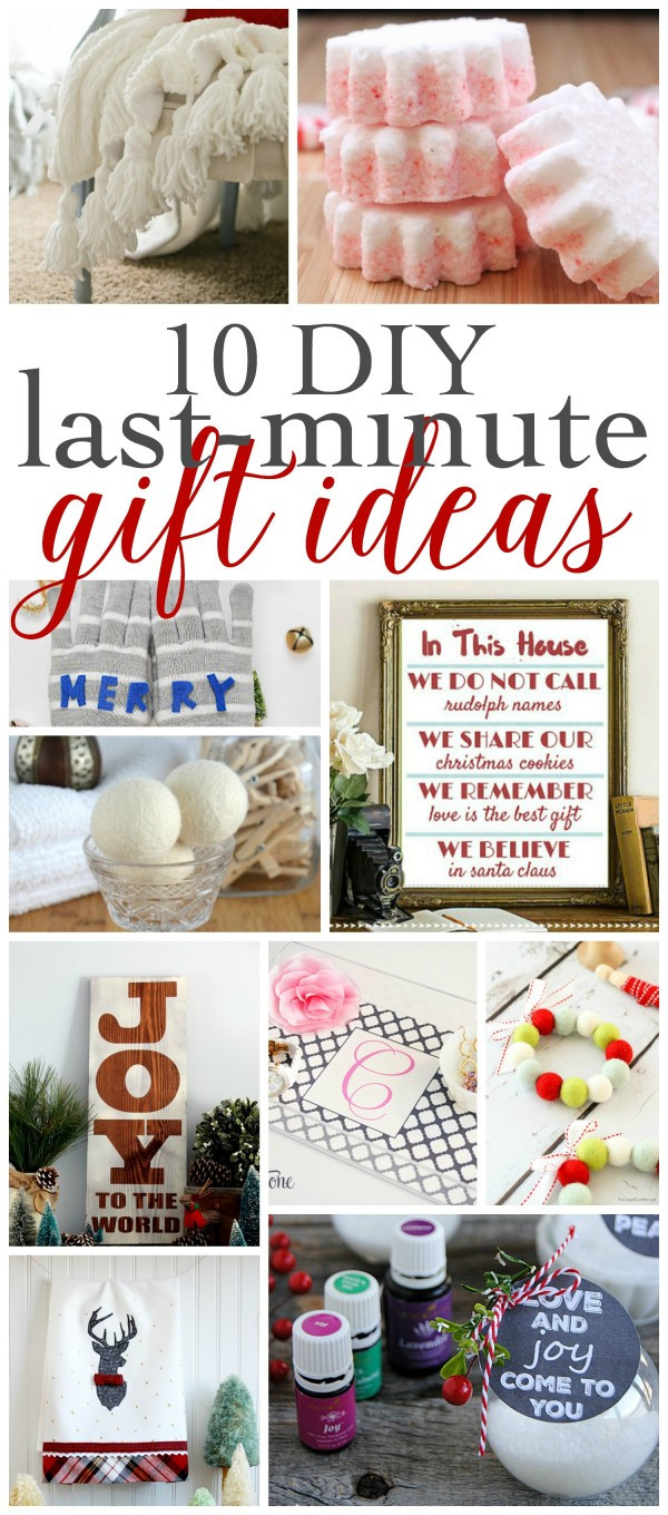 Best ideas about Last Minute DIY Christmas Gifts . Save or Pin Last Minute DIY Gift Ideas Work it Wednesday and a Now.