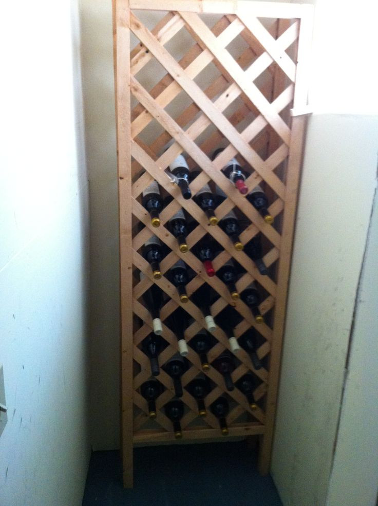 Best ideas about Lattice Wine Rack DIY . Save or Pin Best 25 Diy wine racks ideas on Pinterest Now.