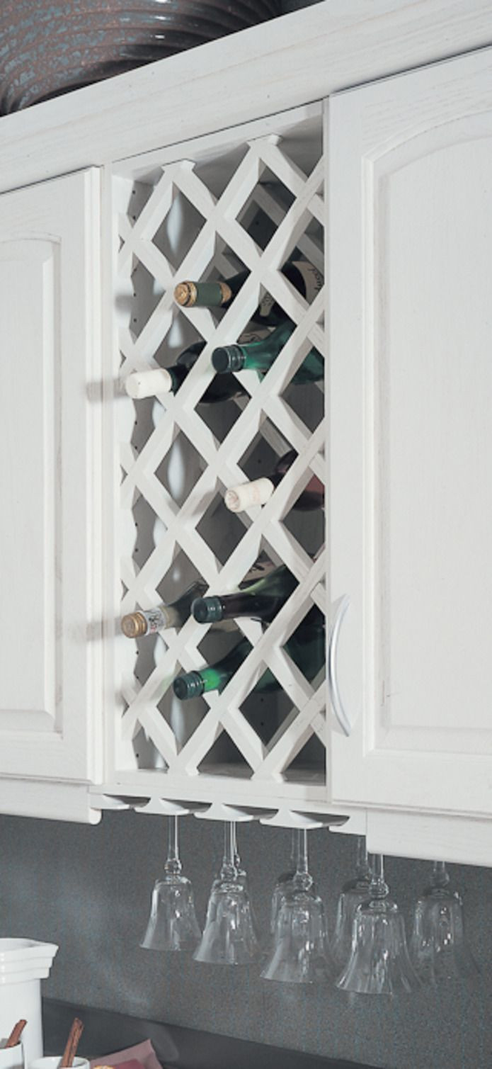 Best ideas about Lattice Wine Rack DIY . Save or Pin how to build a lattice wine rack over the refrigerator Now.