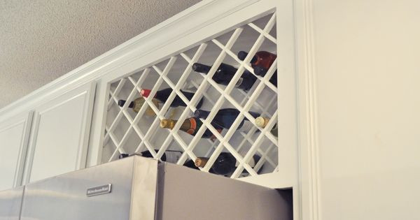 Best ideas about Lattice Wine Rack DIY . Save or Pin Install a wine rack lattice above the refrigerator Now.