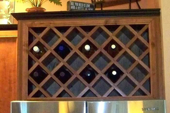 Best ideas about Lattice Wine Rack DIY . Save or Pin Cabinet Wine Rack Lattice Insert How To Build A Pertaining Now.