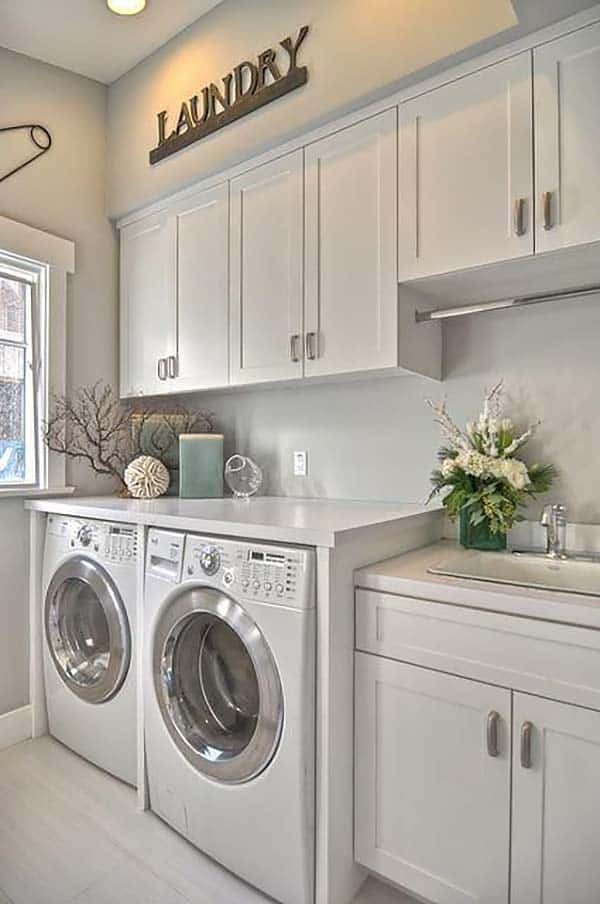 Best ideas about Laundry Room Cabinet Ideas . Save or Pin 60 Amazingly inspiring small laundry room design ideas Now.