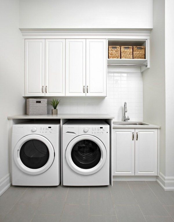 Best ideas about Laundry Room Cabinet Ideas . Save or Pin The 25 best Small laundry rooms ideas on Pinterest Now.