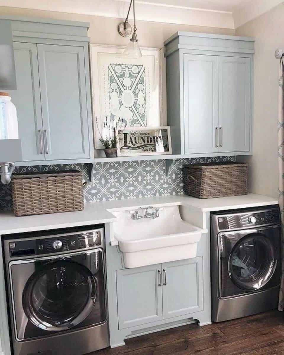 Best ideas about Laundry Room Decor . Save or Pin 30 Unbelievably inspiring farmhouse style laundry room ideas Now.