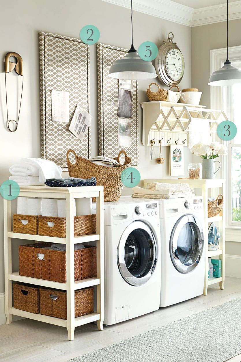 Best ideas about Laundry Room Decor . Save or Pin 5 Laundry Room Decorating Ideas Now.