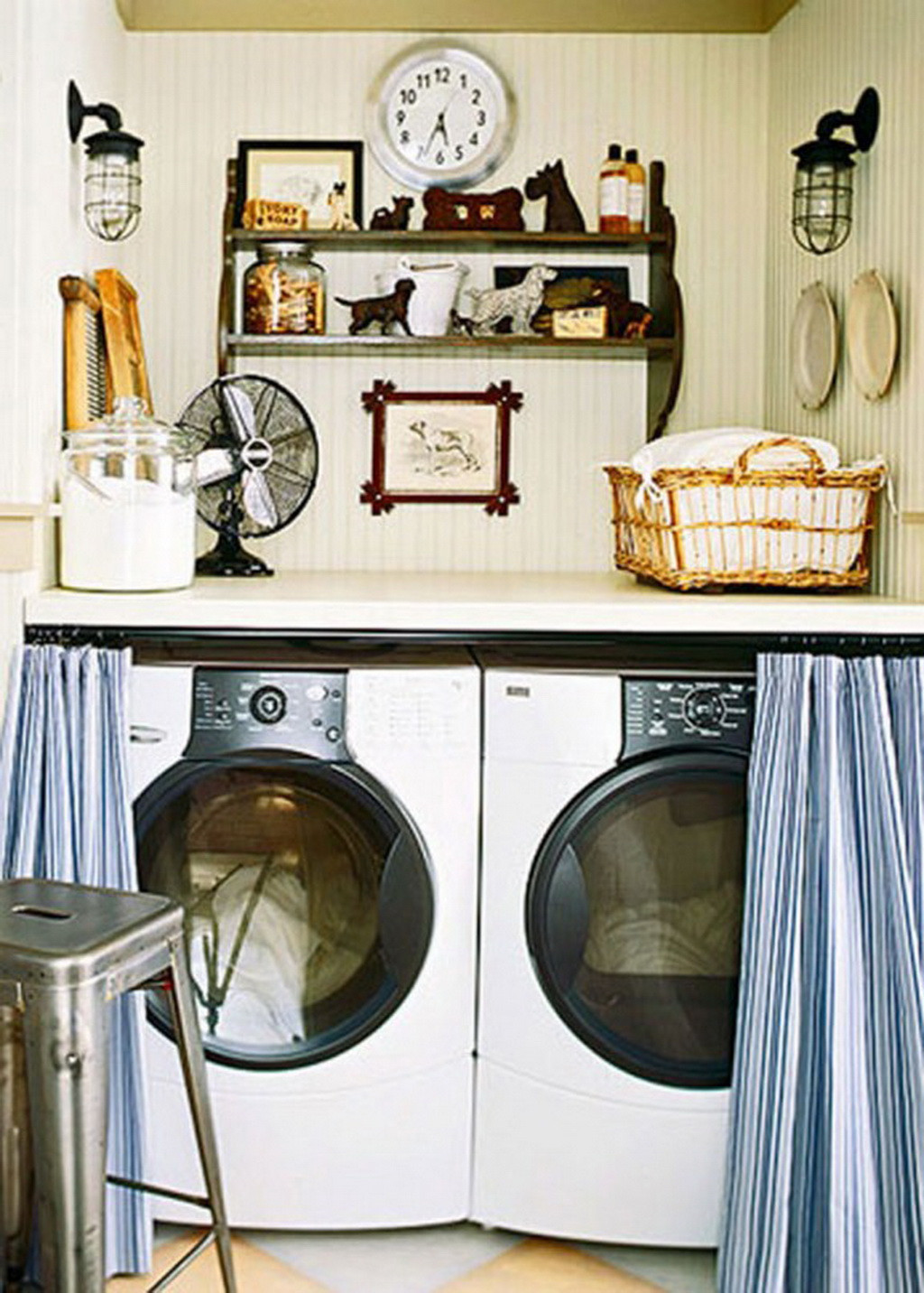 Best ideas about Laundry Room Decor . Save or Pin Home Interior Design for make Small Laundry Room Now.