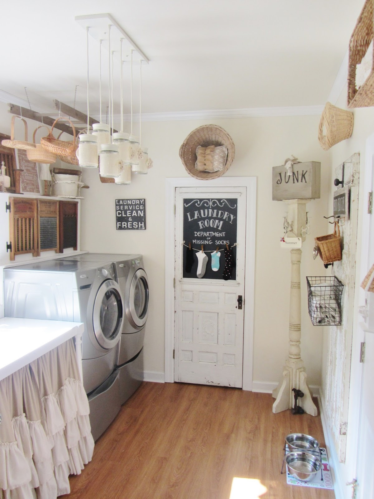 Best ideas about Laundry Room Decor . Save or Pin Junk Chic Cottage Laundry Room Now.