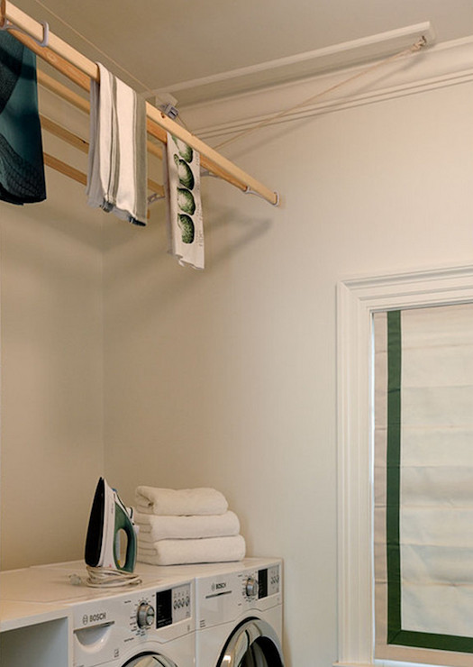 Best ideas about Laundry Room Drying Rack . Save or Pin Drying Rack Transitional laundry room Crisp Architects Now.