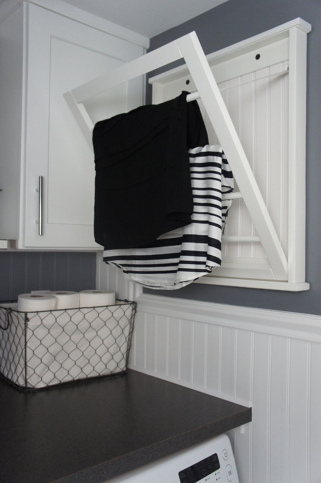 Best ideas about Laundry Room Drying Rack . Save or Pin Home with Baxter House Tour Week 5 Half Bath Laundry Now.