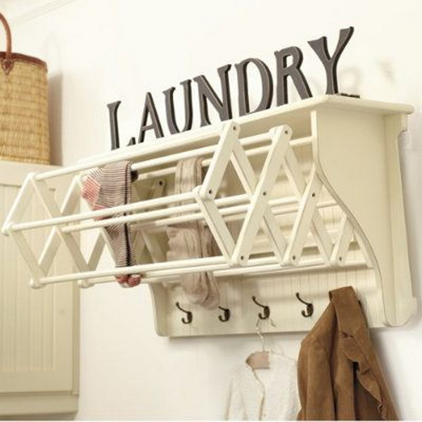 Best ideas about Laundry Room Drying Rack . Save or Pin 50 Laundry Storage And Organization Ideas 2017 Now.