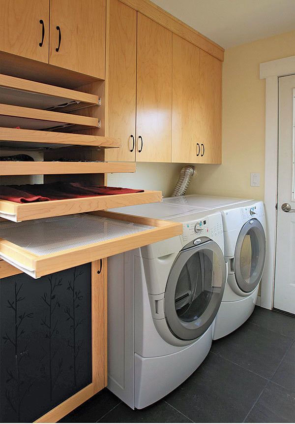 Best ideas about Laundry Room Drying Rack . Save or Pin Laundry Room Trifecta Hamper storage area and drying Now.