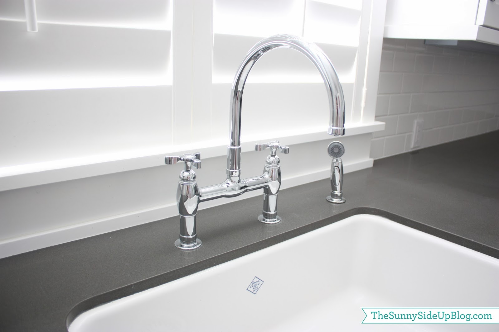 Best ideas about Laundry Room Faucets . Save or Pin Downstairs Laundry Room The Sunny Side Up Blog Now.