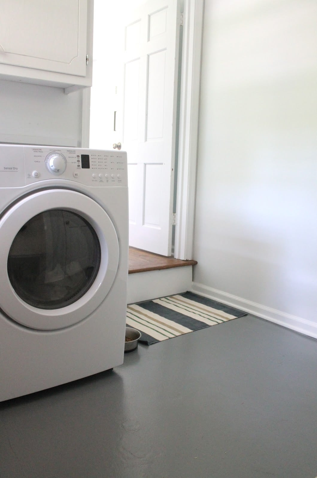 Best ideas about Laundry Room Flooring . Save or Pin How to Paint a Concrete Floor Julie Blanner entertaining Now.