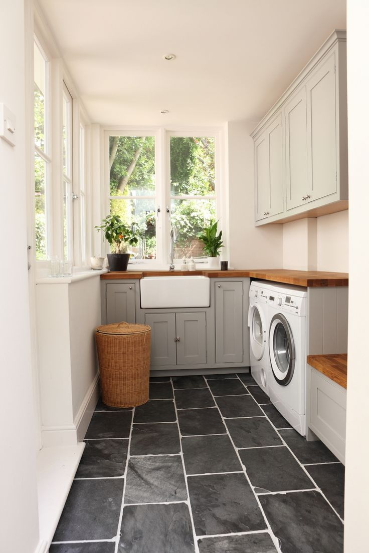Best ideas about Laundry Room Flooring . Save or Pin laundry room black slate floors A House Like This Now.