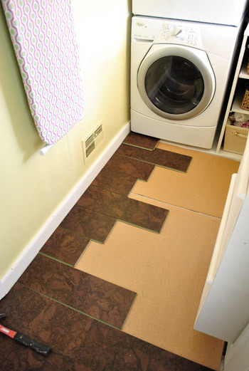 Best ideas about Laundry Room Flooring . Save or Pin pleting Our Kitchen s Cork Floor Installation Now.