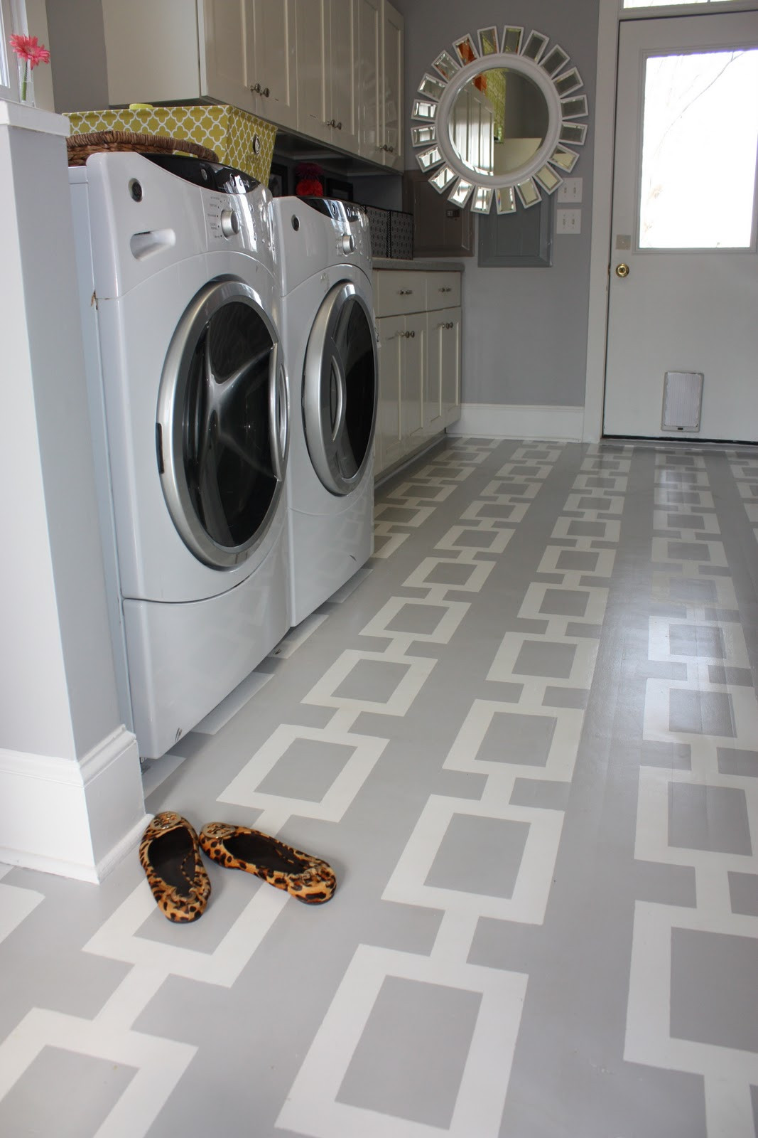 Best ideas about Laundry Room Flooring . Save or Pin Birds A Feather f the Chain Laundry Room Now.