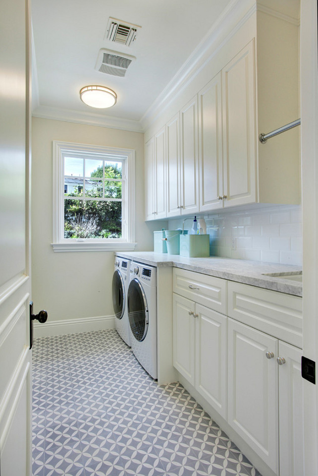 Best ideas about Laundry Room Flooring . Save or Pin Los Angeles Family Home with Transitional Interiors Home Now.