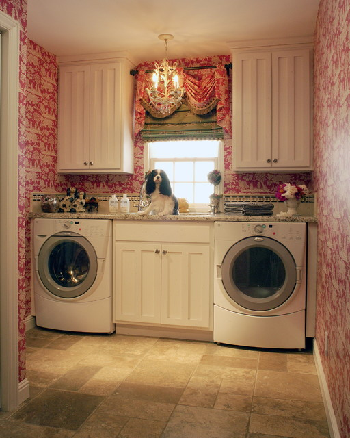 Best ideas about Laundry Room Images . Save or Pin Toile Laundry Room Now.