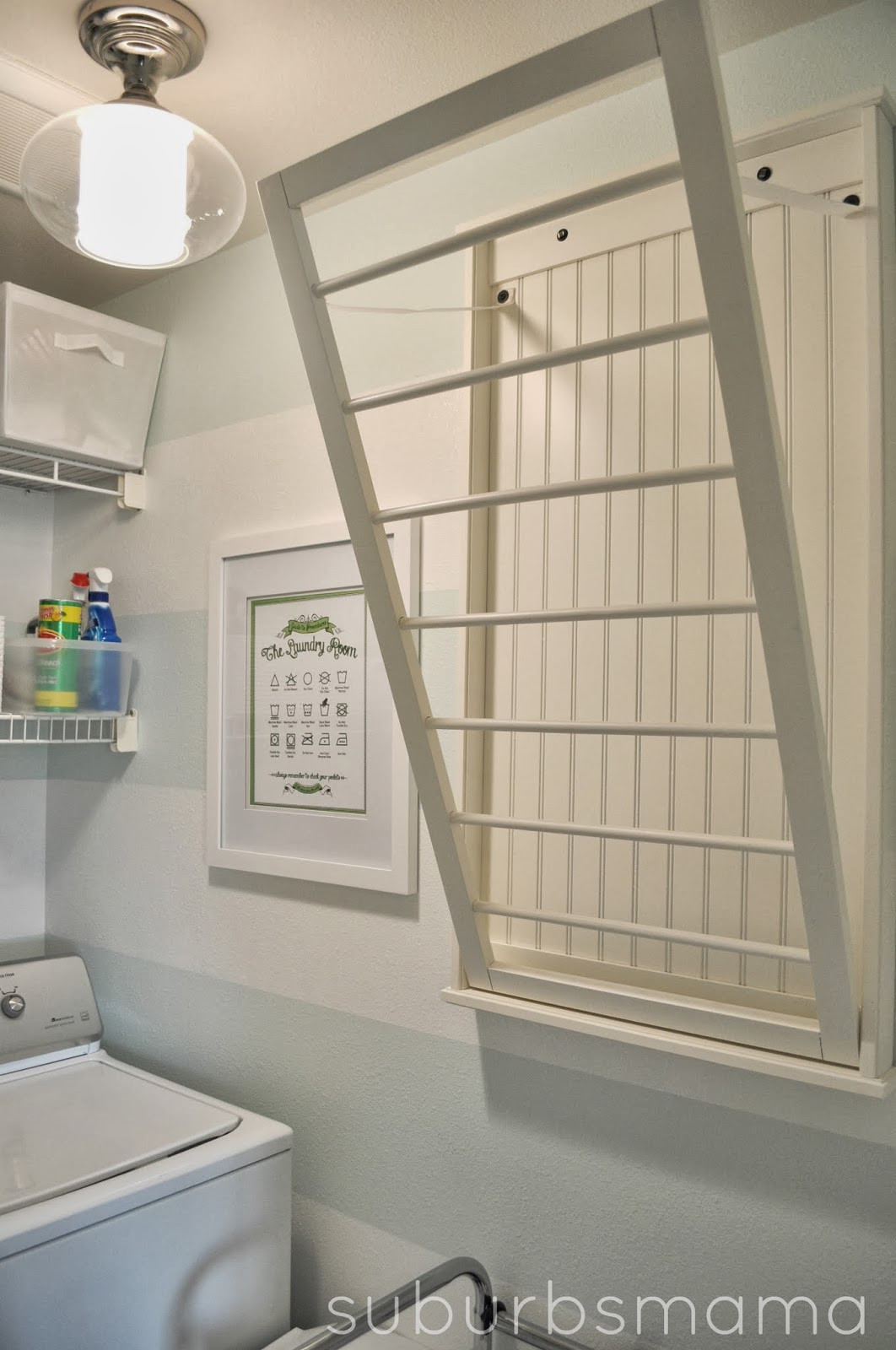 Best ideas about Laundry Room Rack . Save or Pin Suburbs Mama Laundry Room Makeover Now.