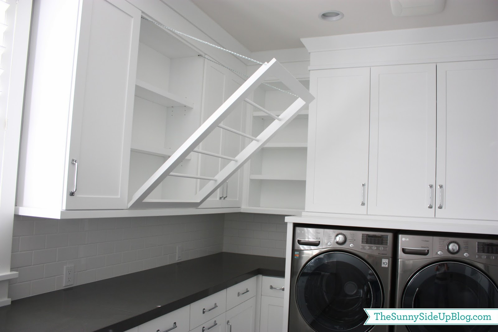 Best ideas about Laundry Room Rack . Save or Pin Downstairs Laundry Room The Sunny Side Up Blog Now.