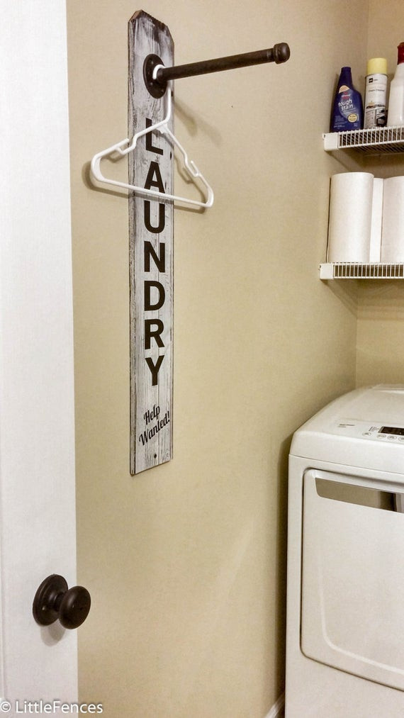 Best ideas about Laundry Room Rack . Save or Pin Laundry Room Sign Industrial Pipe Clothing Rack Laundry Room Now.
