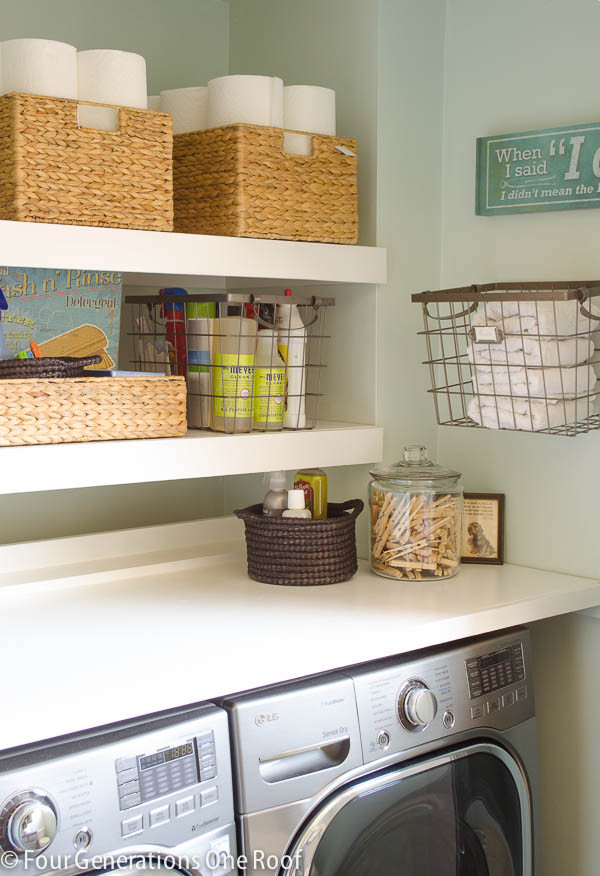 Best ideas about Laundry Room Shelf . Save or Pin 18 Interesting and Useful DIY Shelves for Your Home Now.