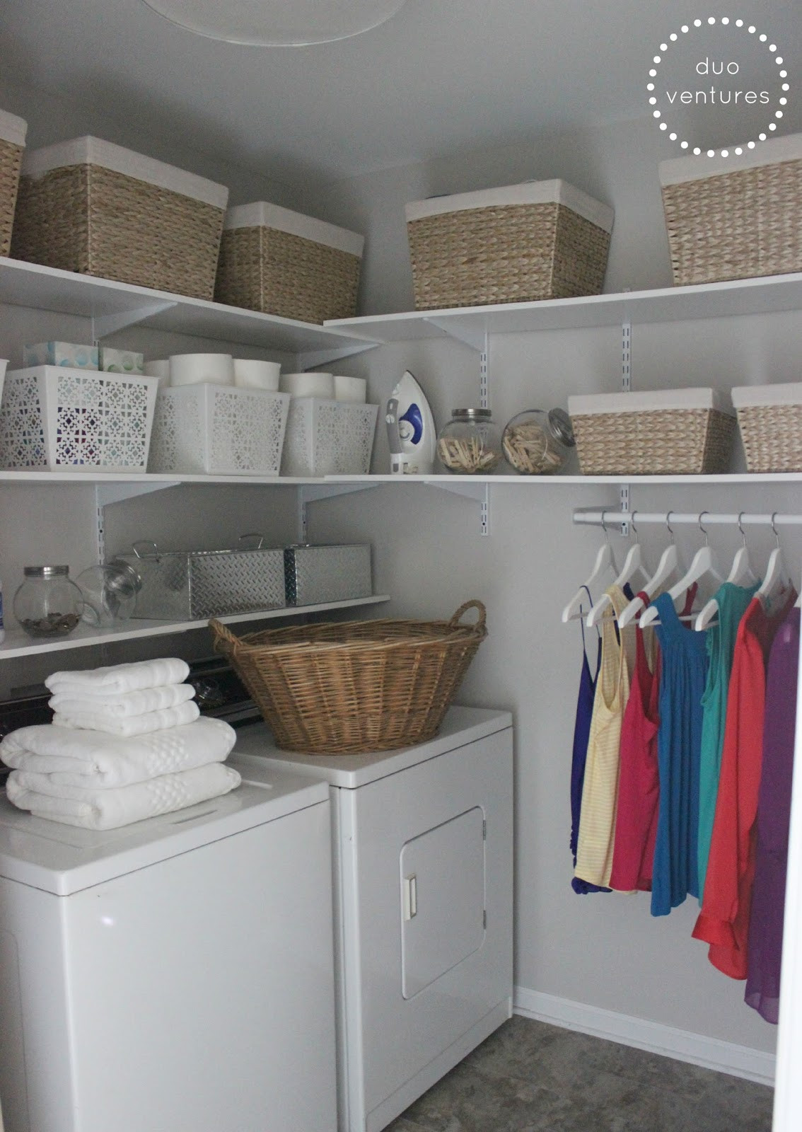 Best ideas about Laundry Room Shelf . Save or Pin Duo Ventures Laundry Room Makeover Now.
