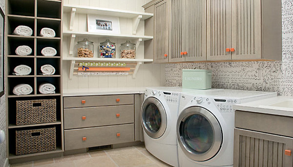 Best ideas about Laundry Room Shelf . Save or Pin Eye Catching Laundry Room Shelving Ideas Now.